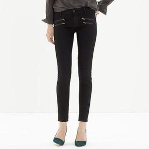 Madewell Skinny Skinny Jeans Biker Zip